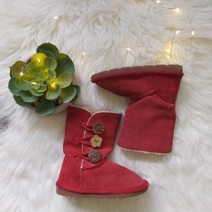 Next Brand Girls Suede Sheepskin Floral Boot